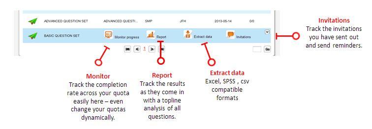 SMP survey software controls